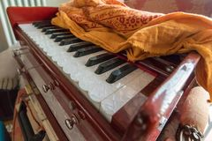 Travel Harmonium Indian Instrument stock photos