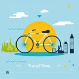Travel & Healthy Lifestyle, Symbol Bicycle Modern Stock Photos