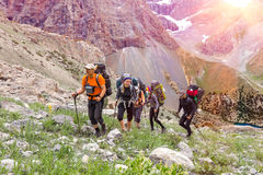 Travel in Himalaya Mountains Royalty Free Stock Images
