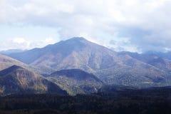 Travel in hokkaido. The big mountains in hokkaido Royalty Free Stock Photo