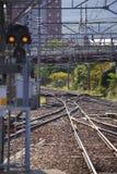 Travel in hokkaido. The rail in hokkaido on sunlight Stock Photo