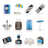 Travel, Holiday And Trip Icons Stock Photography