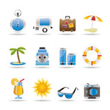 Travel, Holiday And Trip Icons Royalty Free Stock Image
