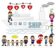 Travel and Holiday Cartoon Graphics Royalty Free Stock Image
