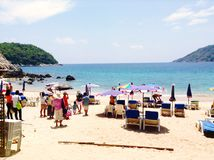 Travel in holiday. In the holiday, go to  the sea in Thailand Royalty Free Stock Photo