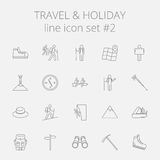 Travel and holiday icon set Stock Photography
