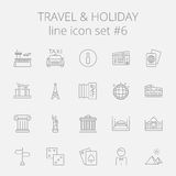 Travel and holiday icon set Royalty Free Stock Image