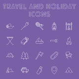 Travel and holiday icon set. Stock Images