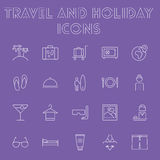 Travel and holiday icon set. Royalty Free Stock Photography