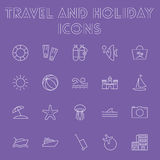Travel and holiday icon set. Royalty Free Stock Images