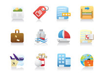Travel & Holiday Icons Stock Image