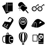 Travel and holiday icons Stock Photo