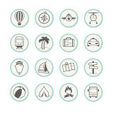 Travel & Holiday Icons Royalty Free Stock Photo