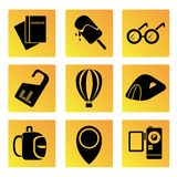 Travel and holiday icons Royalty Free Stock Photography