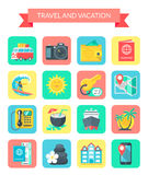 Travel and Holiday Icons. Royalty Free Stock Photos