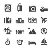 Travel and holiday icons Royalty Free Stock Image