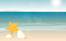 Travel and holiday landscape long banner with ocean Stock Photo