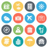 Travel and Holiday Minimal Icon Set Royalty Free Stock Photos