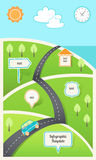 Travel, Holiday, Road Map Infographic Template Stock Photos