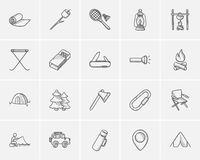 Travel and holiday sketch icon set. Travel and holiday sketch icon set for web, mobile and infographics. Hand drawn travel icon set. Travel and holiday vector Royalty Free Stock Image