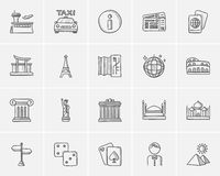 Travel and holiday sketch icon set. Travel and holiday sketch icon set for web, mobile and infographics. Hand drawn travel icon set. Travel and holiday vector Royalty Free Stock Photo