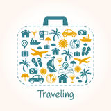 Travel holiday suitcase Royalty Free Stock Image