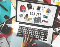 Travel Holiday Tourism Transportation Vacation Concept Stock Image