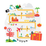 Travel holiday vacation ready for adventure concept vec Royalty Free Stock Images
