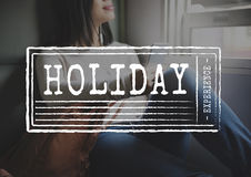 Travel Holiday Wanderlust Trip Concept. Woman Travel Holiday Wanderlust Concept stock images