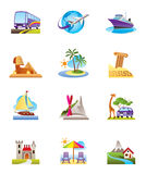 Travel, holidays and vacation icon Stock Photo