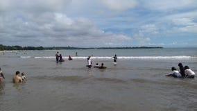 Travel. Hollyday Swiming on carita beach Stock Photo