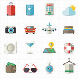 Travel and hotel holiday icons Royalty Free Stock Image