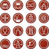 Travel & Hotel icons. Vector Travel and Hotel icons Royalty Free Stock Image