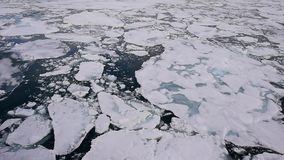 Travel In the ice , Arctic. Travel on the icebreaker in the ice , Arctic stock video footage