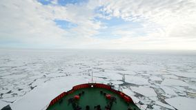 Travel In the ice , Arctic. Travel In the ice on icebreaker, Arctic stock video