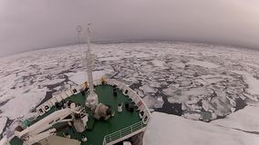 Travel In the ice , Arctic. Travel on the ship In the ice , Arctic stock video footage