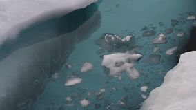 Travel In the ice , Arctic. Travel on the icebreaker in the ice , Arctic stock video