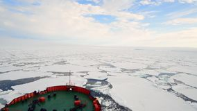 Travel In the ice, Arctic. Travel In the ice on icebreaker, Arctic stock video