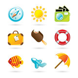 Travel Icon. S on White Background Royalty Free Stock Image
