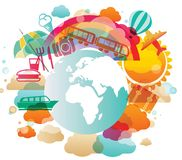 Travel icon background Stock Photography
