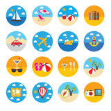 Travel icon. Beautiful flat vector travel icon stock illustration