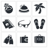 Travel icon collection Stock Image