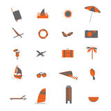 Travel icon color art vector Royalty Free Stock Images