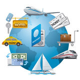 Travel icon concept Royalty Free Stock Photos