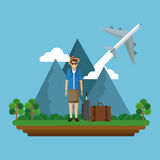 Travel icon design Royalty Free Stock Image