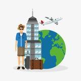 Travel icon design Stock Image