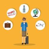 Travel icon design Stock Images