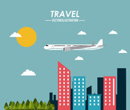 Travel icon design Stock Photography