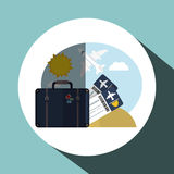 Travel icon design, vector illustration Stock Photography
