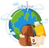 A travel icon elements. Illustration vector illustration